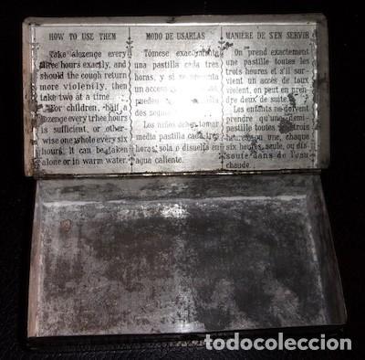 Cajas y cajitas metálicas: CAJITA METÁLICA DE PASTA PECTORAL INFALIBLE CONTRA LA TOS, VACÍA, PUBLICIDAD MEDICINA - Foto 2 - 135484334