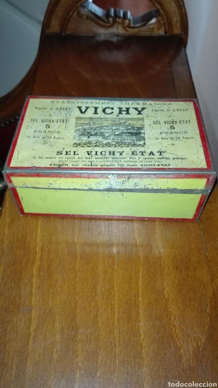 CAJA METÁLICA DE VICHY (Coleccionismo - Cajas y Cajitas Metálicas)