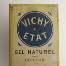 Cajas y cajitas metálicas: CAJA CHAPA VICHY ETAT, SAL NATURAL, MEDIDAS 5 X 8 X 3,5 CM. Lote 135904774