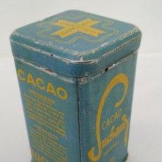 Cajas y cajitas metálicas: CAJA CHAPA CACAO SUCHARD SOLUBLE, MEDIDAS 5,5 X 5,5 X 10 CM. Lote 135907374