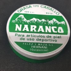 Cajas y cajitas metálicas: CAJA GRASA CABALLO - NARANCO - CAR116. Lote 136417506