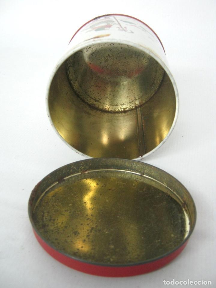 Cajas y cajitas metálicas: Antigua caja chapa de metal LITOGRAFIADA - Navidad ocas Arbol - Foto 5 - 136643758