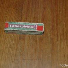 Cajas y cajitas metálicas: ANTIGUO FRASCO BOTE TUBO CRISTAL TAPON CORCHO CAFIASPIRINA BAYER FARMACIA AÑOS 40. Lote 136713370