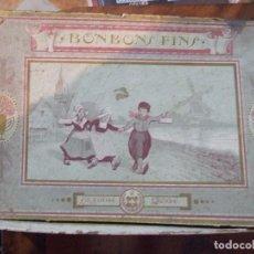 Cajas y cajitas metálicas: ANTIGUA CAJA DE BOMBONES - BONBONS FINS - LA SUISSE RENE. Lote 136816650