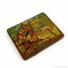 Cajas y cajitas metálicas: CIGARETTES QUEEN-CAJA METAL LITOGRAFIADO DE TABACO- EGIPTO MUY RARA. Lote 137120102