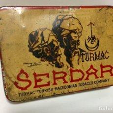 Cajas y cajitas metálicas: RARA CAJA DE METAL DE TABACO TURMAC. Lote 137174936