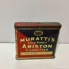 Cajas y cajitas metálicas: CAJA INGLESA METÁLICA DE CIGARROS ARISTON DE MURATTI. Lote 137352704