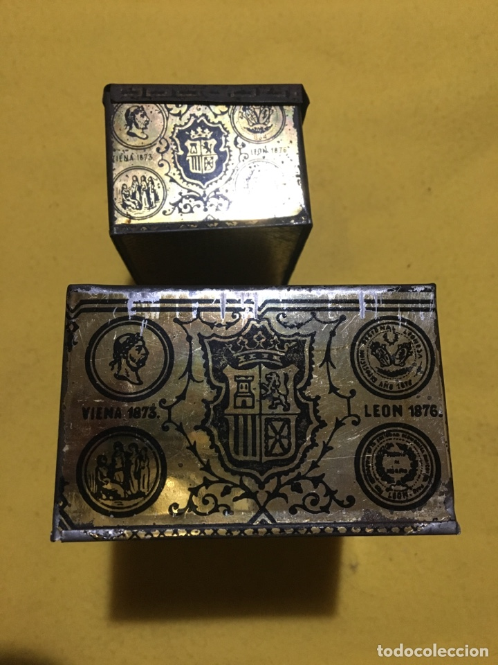 Cajas y cajitas metálicas: Caja hojalata Salamanca Mirat e Hijo - Foto 6 - 137449013