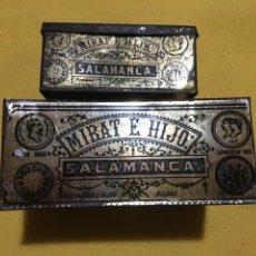 Cajas y cajitas metálicas: CAJA HOJALATA SALAMANCA MIRAT E HIJO. Lote 137449013
