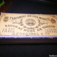 Cajas y cajitas metálicas: CAJA DE CARTON DE PERFUMERIA. XIX.. Lote 137669956