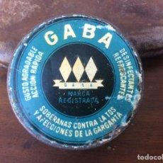 Cajas y cajitas metálicas: CAJA DE LATA DE TABLETAS GABA HOJALATA LITOGRAFIADA. Lote 137723638