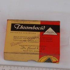 Cajas y cajitas metálicas: CAJA DE FARMACIA THROMBOCID LAB. LACER // SIN DESPRECINTAR. Lote 137933902