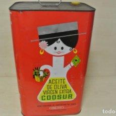 Cajas y cajitas metálicas: BONITA LATA DE ACEITES COOSUR , JAEN . Lote 137943286