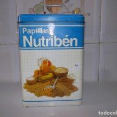 Cajas y cajitas metálicas: LATA NUTRIBEN-PAPILLA-AÑOS 80. Lote 176192519