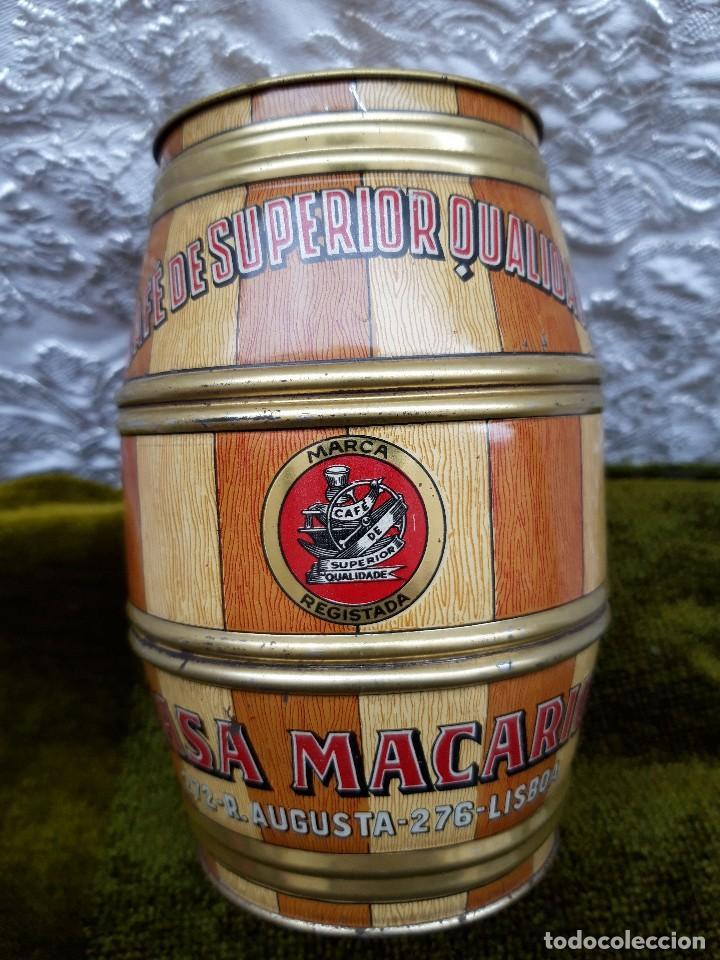 Blechdosen und Kisten: Bote de cafe Casa Macario, Lisboa, hacia 1950. - Foto 2 - 138621434