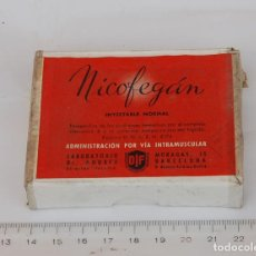 Cajas y cajitas metálicas: CAJA DE FARMACIA NICOFEGAN LAB. DIF // SIN DESPRECINTAR. Lote 138813554