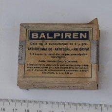 Cajas y cajitas metálicas: CAJA DE FARMACIA BALPIREN LAB. HOSBON // SIN DESPRECINTAR. Lote 138813834