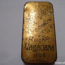 Cajas y cajitas metálicas: CAJITA DE METAL MODERNISTA VALENCIA 1909. Lote 138869210