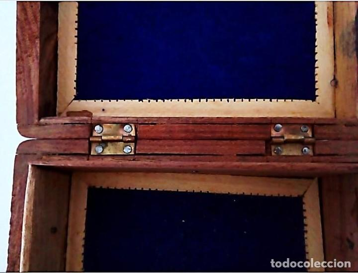 Cajas y cajitas metálicas: Caja de madera tallada con incrustaciones - Foto 3 - 139125114