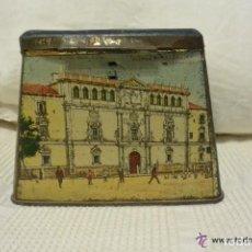 Cajas y cajitas metálicas: ANTIGUA LATA LITOGRAFIADA DE ALMENDRAS MANUEL PASTOR DE ALCALÁ DE HENARES. Lote 139205978