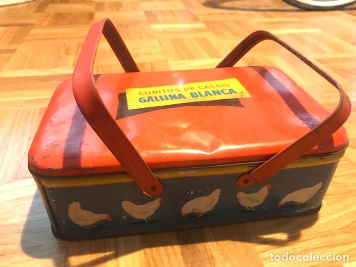 CAJA METALICA CALDO DE GALLINA BLANCA (Coleccionismo - Cajas y Cajitas Metálicas)