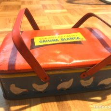 Cajas y cajitas metálicas: CAJA METALICA CALDO DE GALLINA BLANCA. Lote 139257410