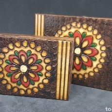Cajas y cajitas metálicas: LOTE CAJAS MADERA - CAR124. Lote 139679145