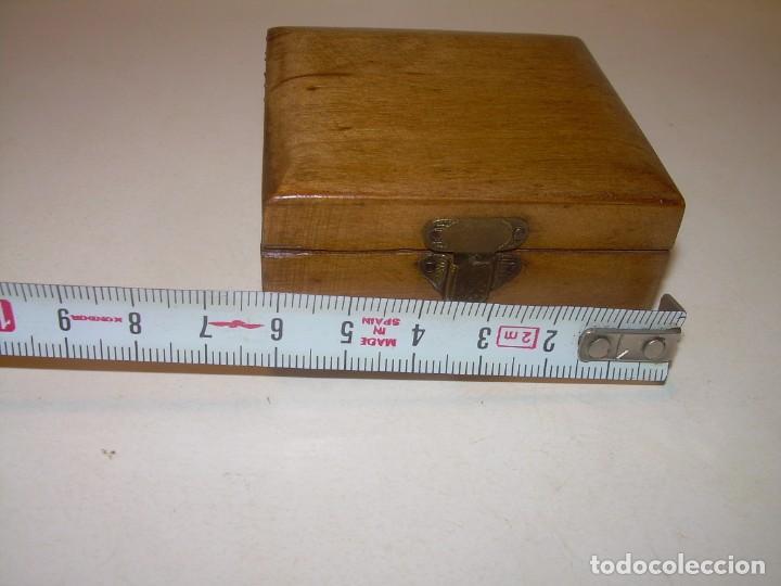 Cajas y cajitas metálicas: ANTIGUA CAJITA DE MADERA NOBLE. - Foto 4 - 139761326