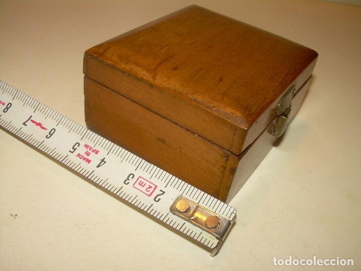 Cajas y cajitas metálicas: ANTIGUA CAJITA DE MADERA NOBLE. - Foto 5 - 139761326