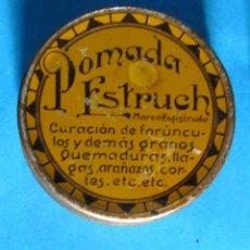Caixas e caixinhas metálicas: CAJA METÁLICA POMADA ESTRUCH. FABRICADO POR EL LABORATORIO DE JOSÉ SUAÑA. POSTERIOR A 1929.. Lote 139897394