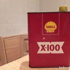 Cajas y cajitas metálicas: SHELL X 100, ANTIGUA LATA ORIGINAL.. Lote 140597182