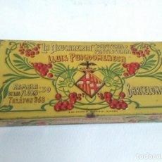 Cajas y cajitas metálicas: CAJA DE HOJALATA PARA BOMBONES «LLUIS PUIGDOMENECH» G DE ANDREIS. Lote 140886086