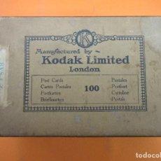 Cajas y cajitas metálicas: KODAK LIMITED LONDON CON 2 SELLOS ESPECIAL MOVIL DE 10 Y 15 CTS CENTIMOS. Lote 140887250