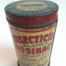 Cajas y cajitas metálicas: CAJA DE HOJALATA «INSECTICIDA ROSINACH» . Lote 140888410