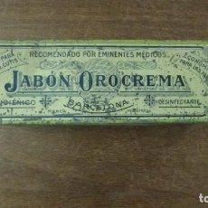 Cajas y cajitas metálicas: JABON OROCREMA, CAJITA METALICA SERIGRAFIADA.. Lote 141340806