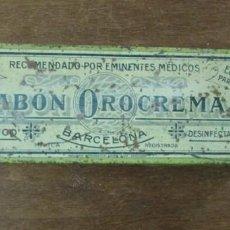 Cajas y cajitas metálicas: JABON OROCREMA, CAJITA METALICA SERIGRAFIADA.. Lote 141340862
