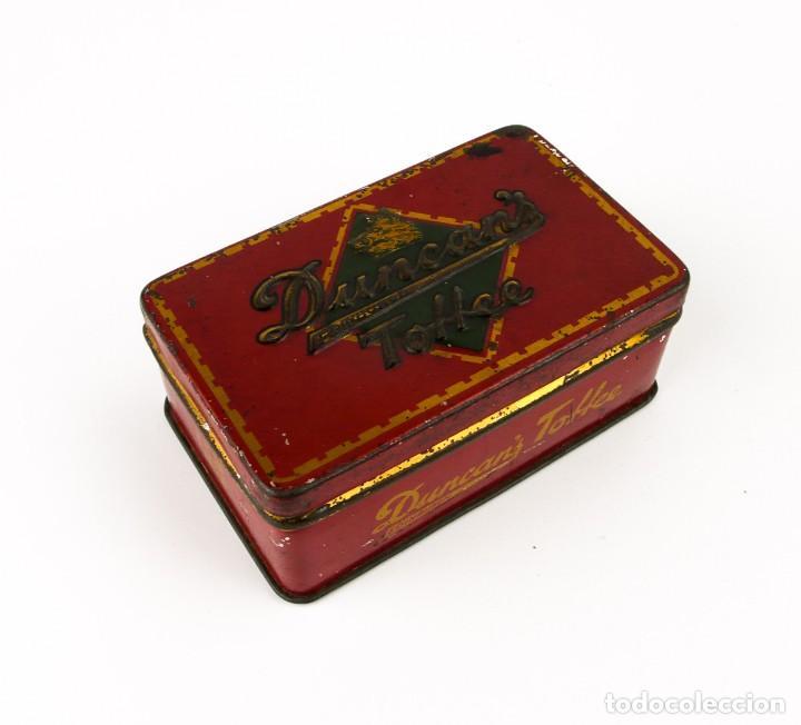 ANTIGUA CAJA METAL LITOGRAFIADO - DUNCAN'S TOFEE EDIMBURGO (Coleccionismo - Cajas y Cajitas Metálicas)