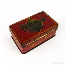 Cajas y cajitas metálicas: ANTIGUA CAJA METAL LITOGRAFIADO - DUNCAN'S TOFEE EDIMBURGO. Lote 141578958