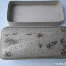 Cajas y cajitas metálicas: CAJA DE JABONES AÑOS 30-40. Lote 141936246