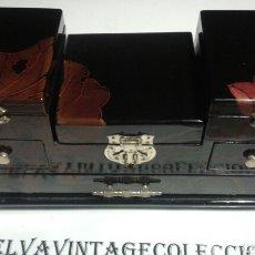 Cajas y cajitas metálicas: JOYERO LACADO, 27,5×10×15 CM.. Lote 142207182