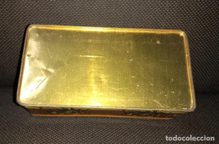 Cajas y cajitas metálicas: Caja de Hojalata Vacía Litografiada de Máquinas de Coser Wertheim - Foto 5 - 142361518