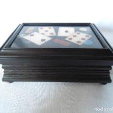 Cajas y cajitas metálicas: ANTIGUA CAJA DE EBANO. Lote 142470470