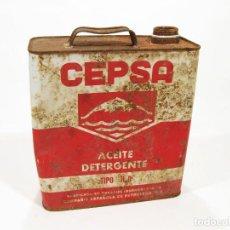 Cajas y cajitas metálicas: LATA DE ACEITE CEPSA. 5 LITROS.. Lote 142641234