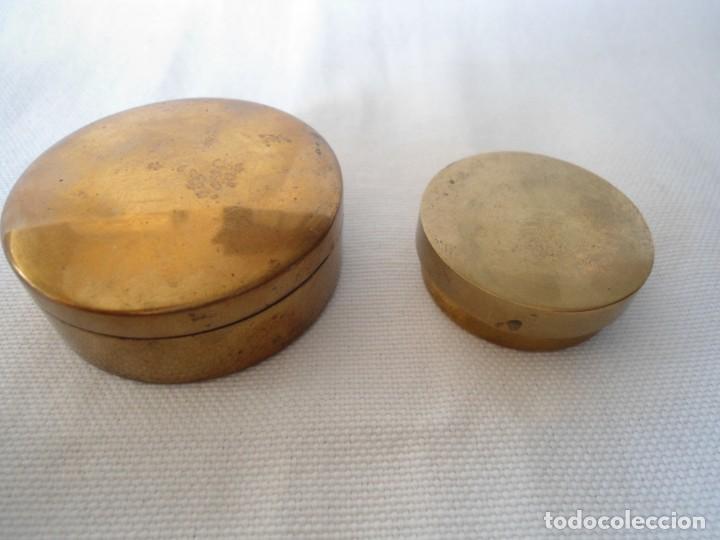 PAREJA DE CAJITAS DE METAL (Coleccionismo - Cajas y Cajitas Metálicas)