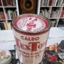 Cajas y cajitas metálicas: LATA CALDO TEXTON ORIGINAL ESPAÑOL DESDE 1928. CUBITOS. . Lote 144264398