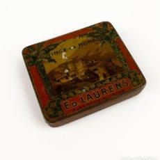 Cajas y cajitas metálicas: ANTIGUA CAJITA DE CIGARROS-PRINCE DE MONACO ED.LAURENS ALEXANDRIE LE CAIRE. Lote 144876082
