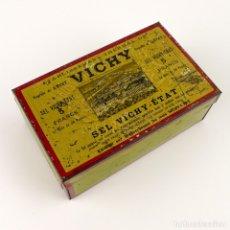 Cajas y cajitas metálicas: VICHY -SEL VICHY ETAT - CAJA DE METAL LITOGRAFIADO. Lote 144883042