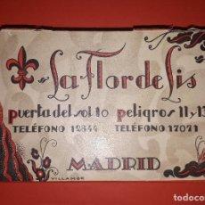 Cajas y cajitas metálicas: ANTIGUA CAJA DE CARAMELOS FLOR DE LIS MADRID. Lote 144898130