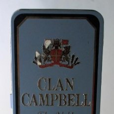 Cajas y cajitas metálicas: CAJA METÁLICA DE WHISKY CLAN CAMPBELL.. Lote 145105818