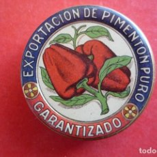 Cajas y cajitas metálicas: ESPINARDO (MURCIA). PEQUEÑO ESTUCHE PARA MUESTRAS DE PIMENTÓN. DIÁMETRO 5,5 CM.. Lote 145260030